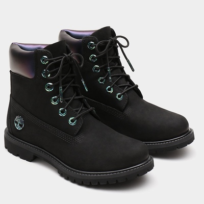 Timberland 6 Inch Iridescent Premium Boots For Women In Black [Size UK 3-7.5]
