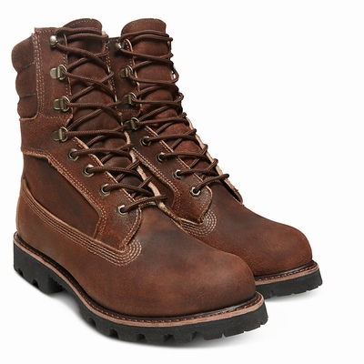Timberland American Craft 8-Inch Boots For Men In Dark/Brown [Size UK 5.5-11.5]