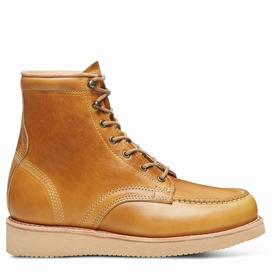 Timberland American Craft Moc Toe Boots For Men In Yellow [Size UK 5.5-11.5]