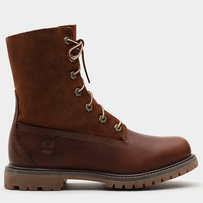 Timberland Authentics Teddy Fleece Ankle Boots For Women In Brown [Size UK 3-7.5]