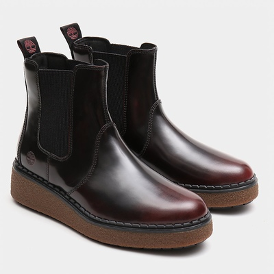 Timberland Bluebell Lane Chelsea Boots For Women In Burgundy [Size UK 3-7.5]