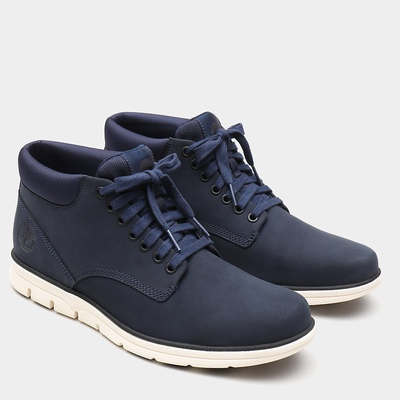 Timberland Bradstreet Leather Chukka Boots For Men In Navy [Size UK 5.5-11.5]