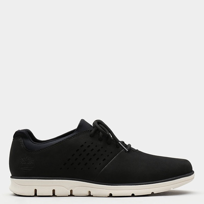 Timberland Bradstreet Perforated Oxfords Shoes For Men In Black [Size UK 5.5-11.5]