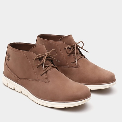 Timberland Bradstreet Plain Toe Chukka Boots For Men In Brown [Size UK 5.5-11.5]