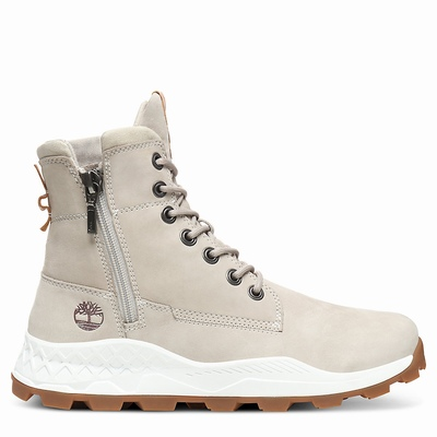 Timberland Brooklyn Side Zip Boots For Men In Beige [Size UK 5.5-11.5]