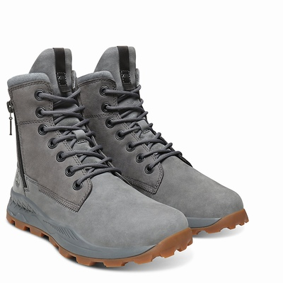 Timberland Brooklyn Side Zip Boots For Men In Grey [Size UK 5.5-11.5]