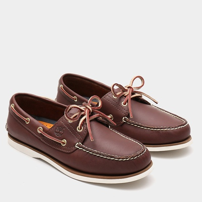 Timberland Classic 2-Eye Boats Shoes For Men In Brown [Size UK 5.5-11.5]