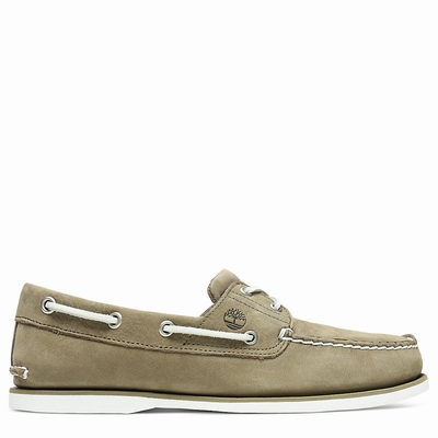 Timberland Classic 2-Eye Boats Shoes For Men In Green [Size UK 5.5-11.5]