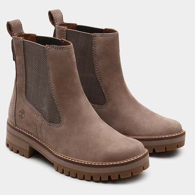 Timberland Courmayeur Valley Chelsea Boots For Women In Taupe [Size UK 3-7.5]