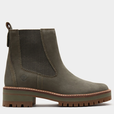 Timberland Courmayeur Valley Chelsea Boots For Women In Green [Size UK 3-7.5]
