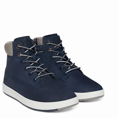 Timberland Davis Square 6 Inch Boots For Kids In Navy [Size UK 6-2.5]