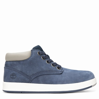 Timberland Davis Square Chukka Boots For Kids In Navy [Size UK 6-2.5]