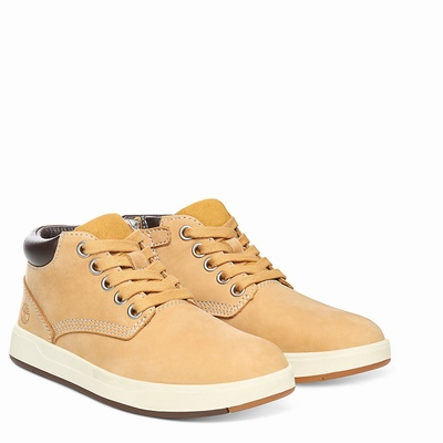 Timberland Davis Square Chukka Boots For Kids In Yellow [Size UK 6-2.5]