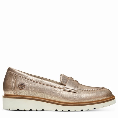 Timberland Ellis Street Loafer Loafers For Women In Rose/Gold [Size UK 3-7.5]