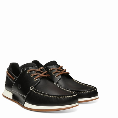 Timberland Heger's Bay Boats Shoes For Men In Black [Size UK 5.5-11.5]