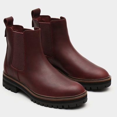 Timberland London Square Chelsea Boots For Women In Burgundy [Size UK 3-7.5]