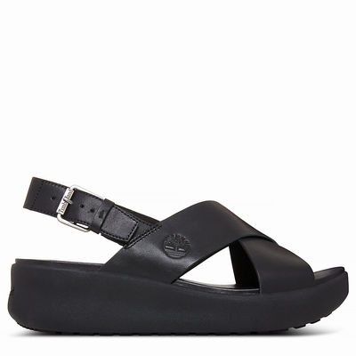 Timberland Los Angeles Wind Slingback Sandals For Women In Black [Size UK 3-7.5]