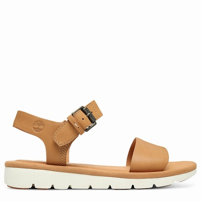 Timberland Lottie Lou Sandals For Women In Light/Brown [Size UK 3-7.5]