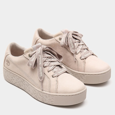 Timberland Marblesea Leather Sneakers For Women In Taupe [Size UK 3-7.5]