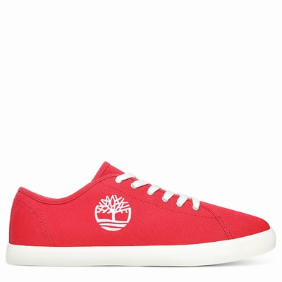 Timberland Newport Bay Canvas Sneakers For Kids In Red [Size UK 6-2.5]