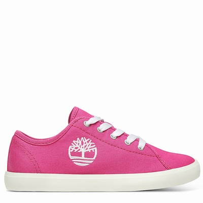 Timberland Newport Bay Canvas Sneakers For Kids In Pink [Size UK 6-2.5]