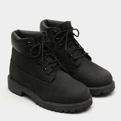 Timberland Premium 6 Inch Boots For Kids In Black [Size UK 6-2.5]
