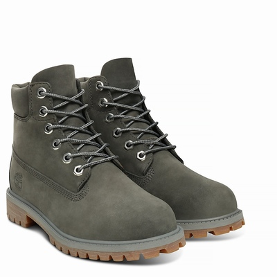 Timberland Premium 6 Inch Boots For Kids In Dark/Grey [Size UK 6-2.5]
