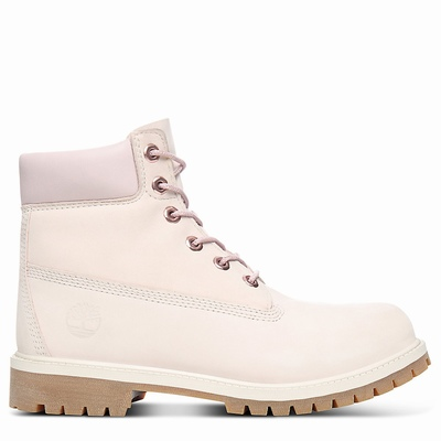Timberland Premium 6 Inch Boots For Kids In Light/Pink [Size UK 6-2.5]
