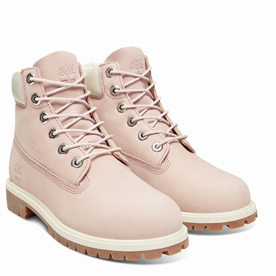 Timberland Premium 6 Inch Boots For Kids In Pink [Size UK 6-2.5]