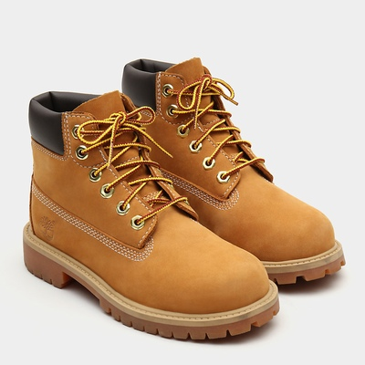 Timberland Premium 6 Inch Boots For Kids In Yellow [Size UK 6-2.5]