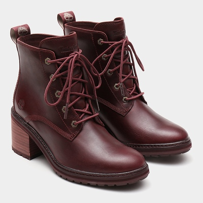 Timberland Sienna High Lace-Up Ankle Boots For Women In Burgundy [Size UK 3-7.5]