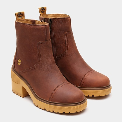 Timberland Silver Blossom Ankle Boots For Women In Brown [Size UK 3-7.5]