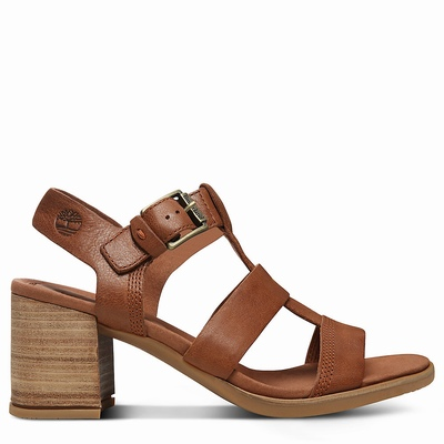 Timberland Tallulah May T-Band Sandals For Women In Brown [Size UK 3-7.5]