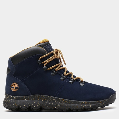 Timberland World Hiker Leather Hiking Boots For Men In Navy [Size UK 5.5-11.5]