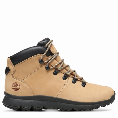 Timberland World Hiker Mid Hiking Boots For Men In Beige [Size UK 5.5-11.5]
